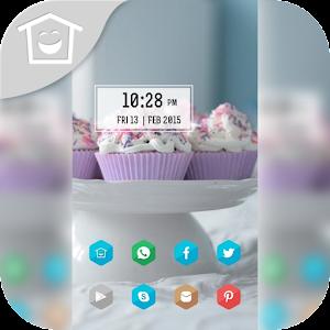 Desktop theme cake white plate