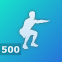500 Squats - Strong Leg Workout icon
