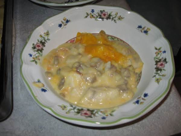 Cod & Prawn Bake In Cheese Sauce Recipe