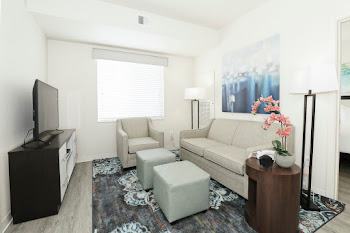 Go to Two Bed, Two Bath Furnished with Balcony Floorplan page.