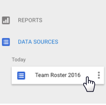 Edit a data source by clicking it in the Home page