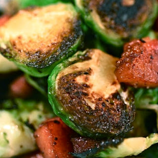 Seared Brussels Sprouts with Bacon Lardons Recipe