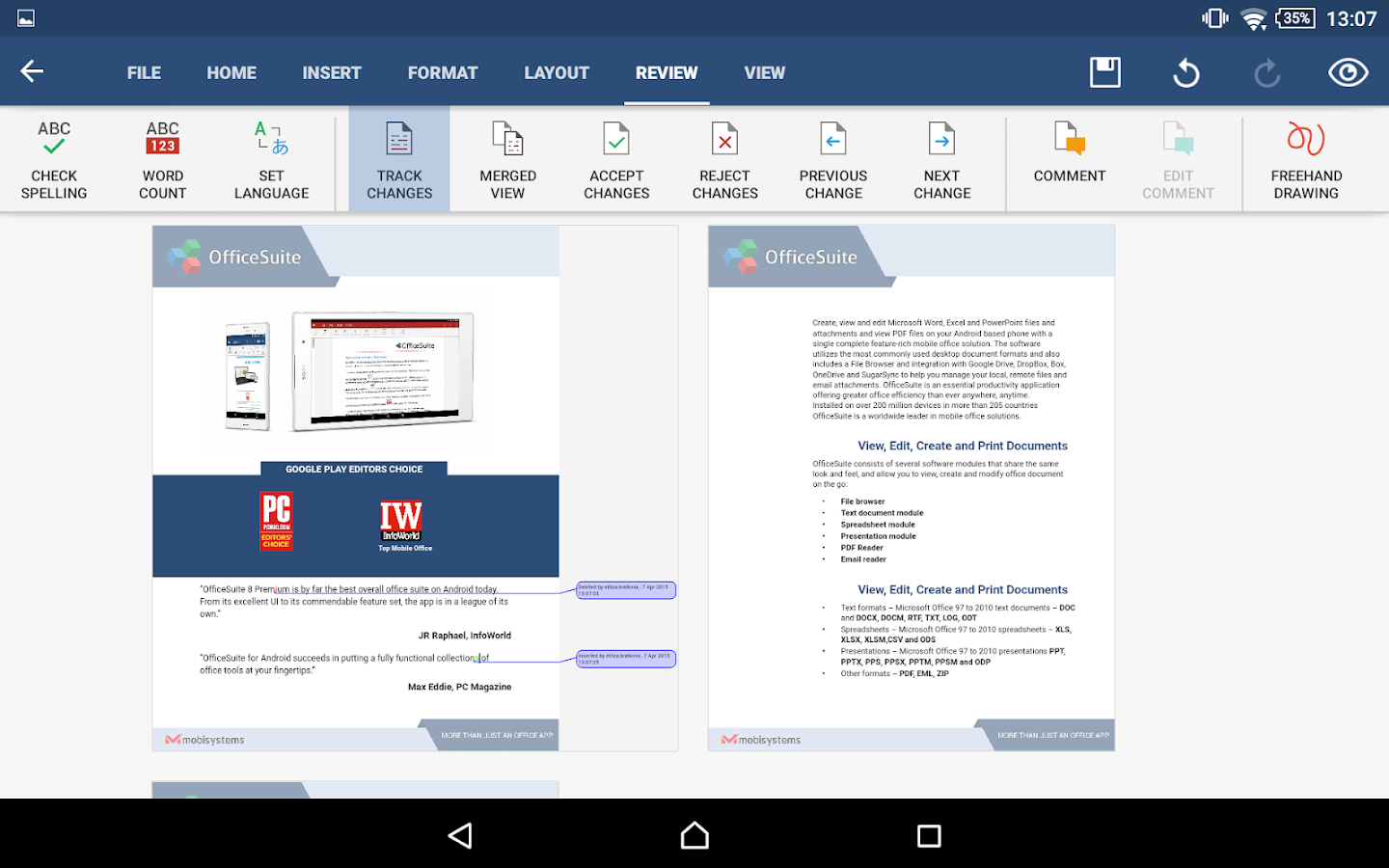 OfficeSuite 8 + PDF Editor - screenshot