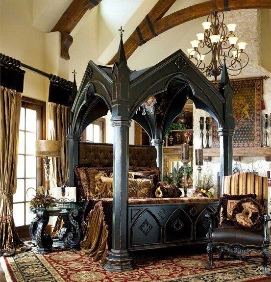 Medieval-Inspired Gothic Bedroom