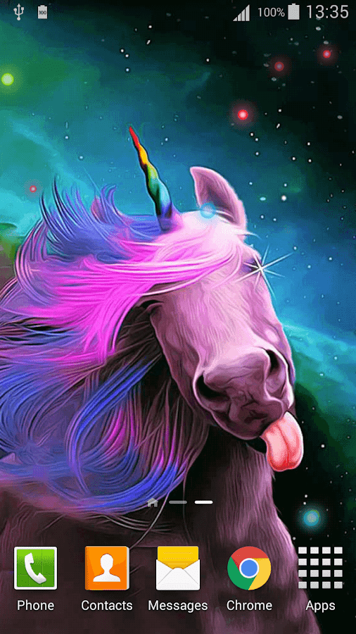cartoon unicorn live wallpaper android apps on google play