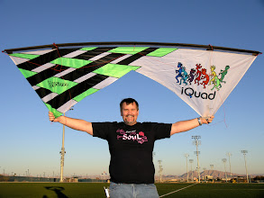 Photo: Kent Kingston holding an iQuad csutom Revolution 1.5.