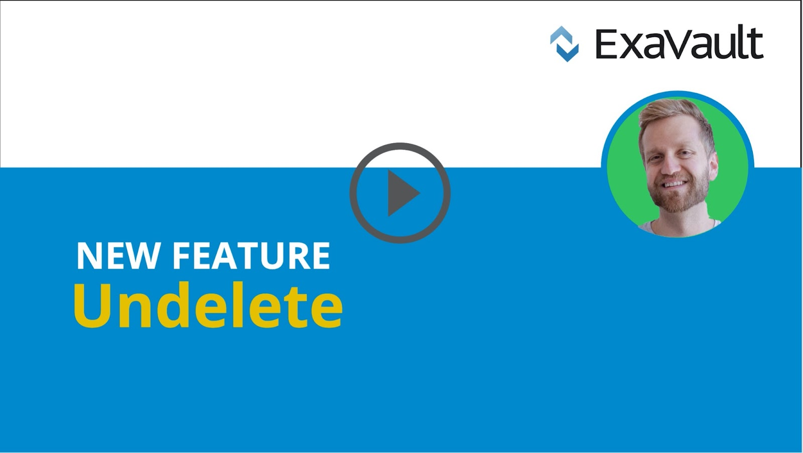 Video thumbnail for new undelete feature announcement.