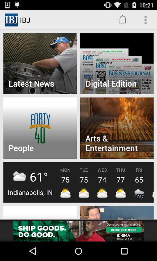 Indianapolis Business Journal- screenshot