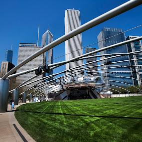 Millenium Park by Cristobal Garciaferro Rubio - City,  Street & Park  City Parks ( chi-town, millenium park, buildings, theater, chicago )