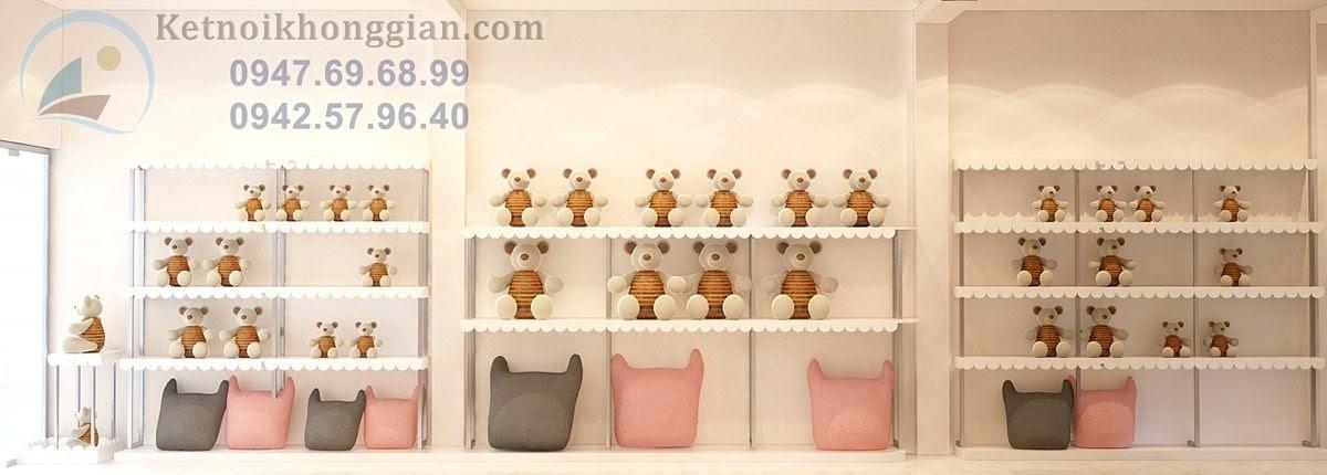 thiết kế shop gấu bông ấn tượng