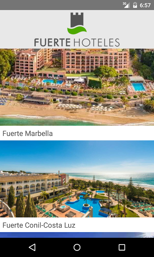 Fuerte Hotels- screenshot
