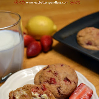 Strawberry-Lemon Whole Wheat Muffins.
