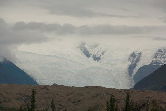 Photo: view of the glacier from town about 7 miles out