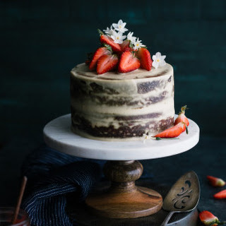 Strawberry Vanilla Almond Cream Layer Cake