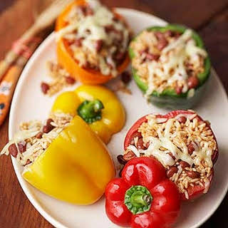 Bean-and-Rice-Stuffed Peppers.