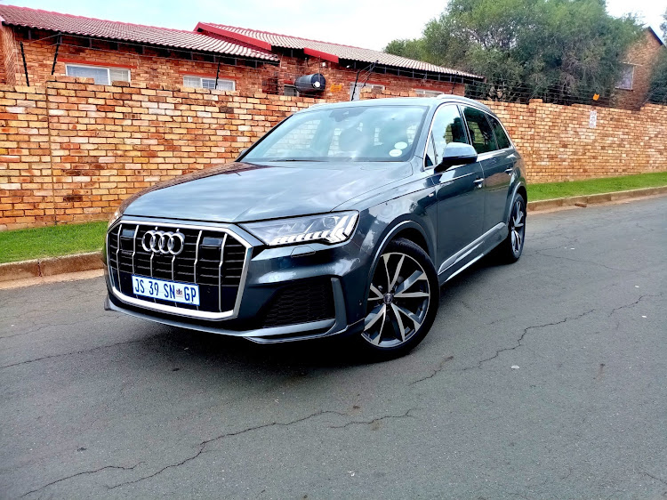The Audi Q7 recently received a comprehensive facelift and an update to its digital systems. Picture: PHUTI MPYANE