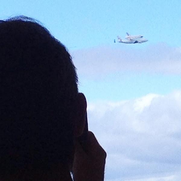 Photo: Shuttle Enterprise flyover in New York.