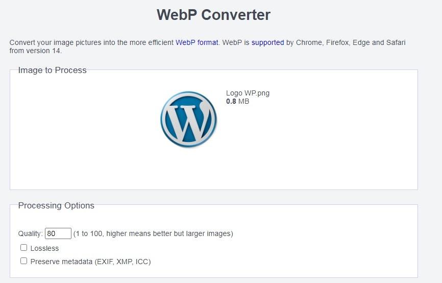 Mengubah Format Gambar Menjadi Webp