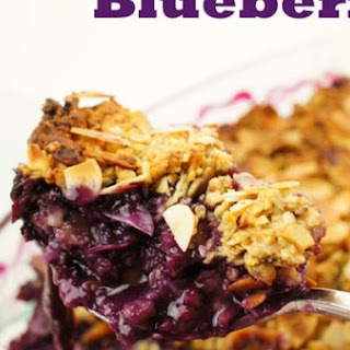 Crispy Almond Crumble with Blueberry