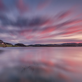 Down by the lake by Peter Zajfrid - Landscapes Waterscapes ( clouds, sky, pernica, slovenija, slovenia, long exposure, lake )