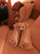 Photo: Crab-boom - cuz we missed the dogs, we named the towel animals after them.