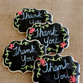 Decorated Chalkboard Cookies for Teacher Appreciation