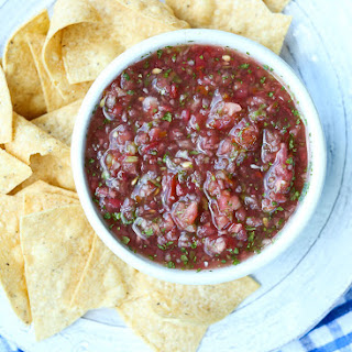 Restaurant Style Salsa with Fresh Tomatoes.