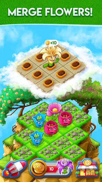 Blooming Flowers : Merge Flowers : Idle Game