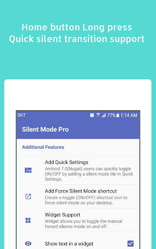 Android için Silent Mode ᴾᴿᴼ (Camera Mute) Uygulamalar screenshot