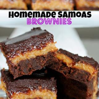 Homemade Samoas Brownies.
