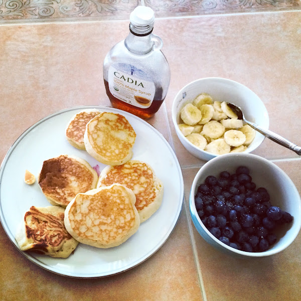GF buttermilk pancake/waffle mix $3.99ish  Organic bananas $0.29 each