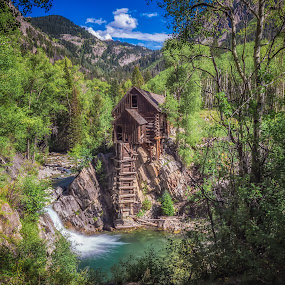 Crystal Mill by Matt Workman - Landscapes Mountains & Hills ( mountains, waterfall, colorado, landscape photography, trees, long exposure, landscapes, landscape )