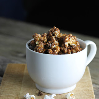 Peanut Butter and Chocolate Covered Popcorn.