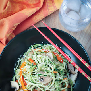 Stir Fry Zucchini Noodles (vegan, gluten free).