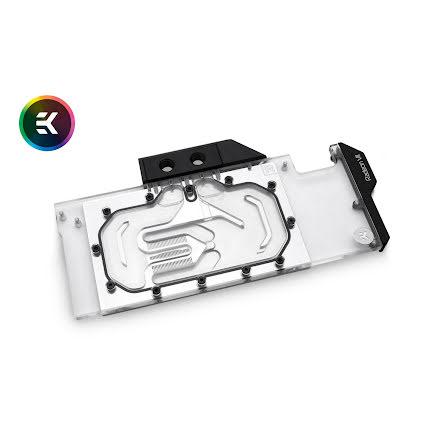 EK vannblokk for skjermkort, EK-Vector Radeon VII RGB - Nickel + Plexi
