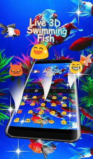 Live 3D Swimming Fish Keyboard Theme 6.5.22 screenshots 4