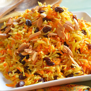 Sweet Basmati Rice with Carrots & Raisins