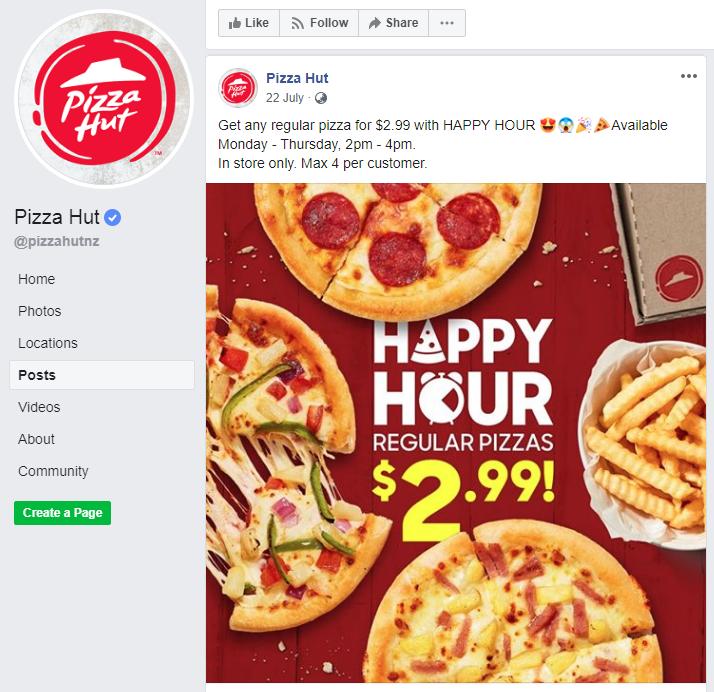 Pizza Hut Happy Hour!!