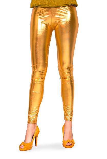 Leggings, guldmetallic