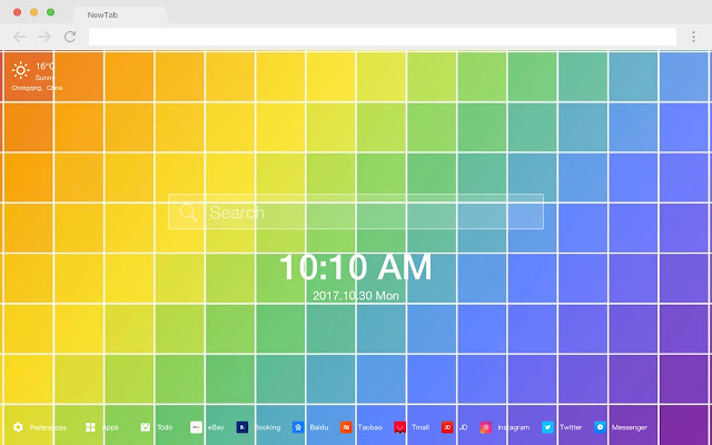 Rainbow HD New Tabs Popular Colors Theme