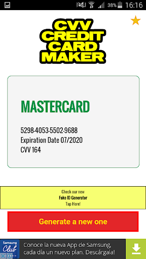 cvv credit card generator screenshot 3