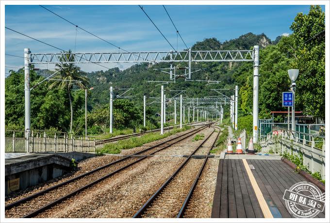 山里車站月台