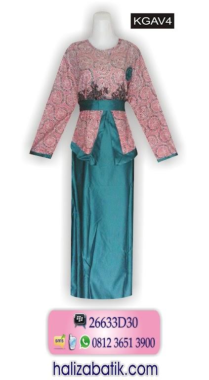 Busana Muslimah, Baju Batik Murah, Baju Jubah Modern, KGAV4
