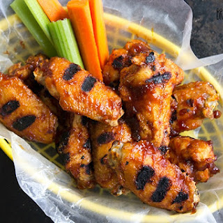 Roasted Garlic BBQ Chicken Wings