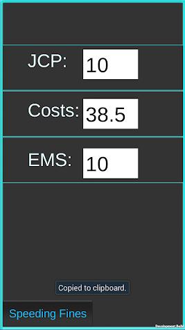 Speeding Fines PA Screenshot