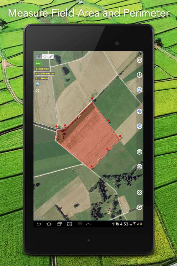 Planimeter - GPS area measure screenshot #12