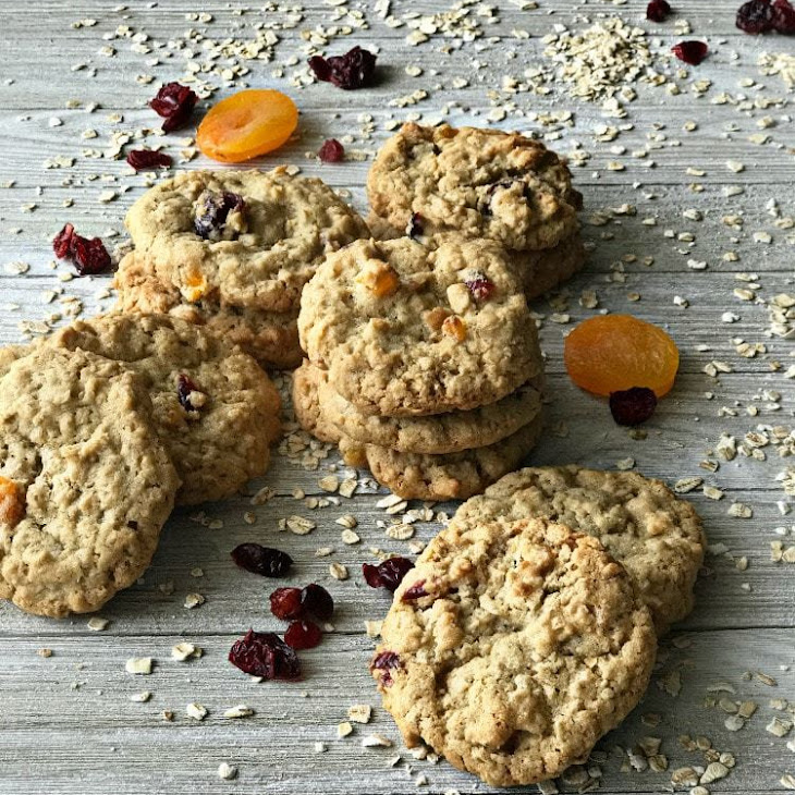 Cranberry Apricot Oatmeal Cookies Recipe