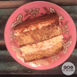 Festive Low Carb Keto Friendly Tiramisu Cake.