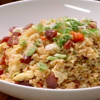 Fried Rice with Chinese Sausage.