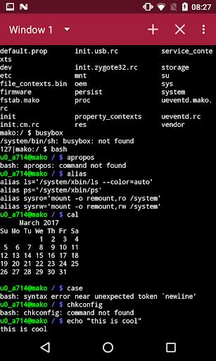 Terminal Emulator Free 1.2.4 screenshots 2